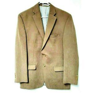 Ralph Lauren Suit Coat Blazer Tan 2 Button #H0513